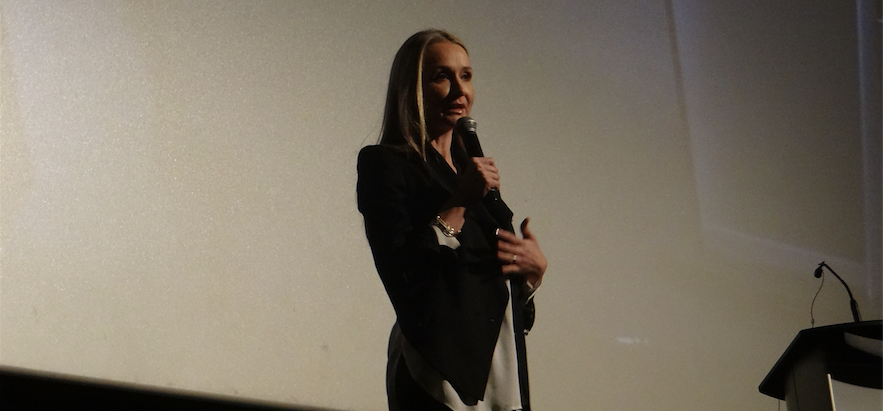 Filmmaker Alexandra Cousteau speaking at Planet in Focus in Toronto