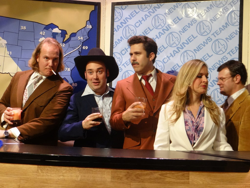 The cast of The Secret Sessions theatre immersive experience of Anchorman